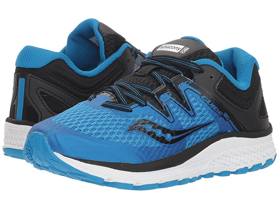 Saucony Kids Guide ISO (Little Kid/Big Kid) (Blue/Black) Boys Shoes