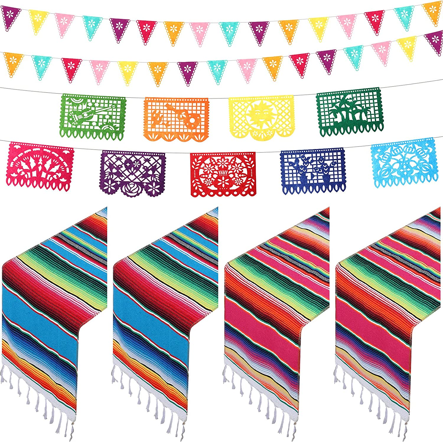 Max 71% OFF 7 Pieces Mexican Table Runner 110 Inch x 14 Serape Selling and selling