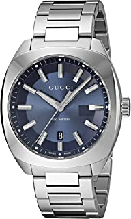 Gucci Men's Blue Dial Stainless Steel Band Watch - YA142303
