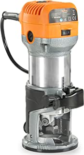 """VonHaus Compact Palm Router Saw 580W Chuck Collet Diameter 1/4"""" 3/8"""" - Trimmer Base for Wood/Laminate Flooring"""