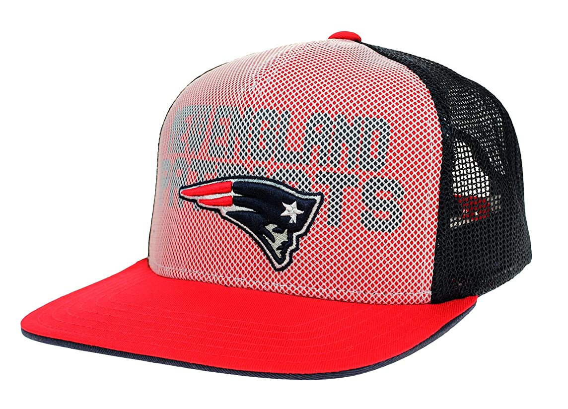 New England Patriots NFL Youth, Flat Brim, Helix Trucker Style, Adjustable Hat, Boys 8-20