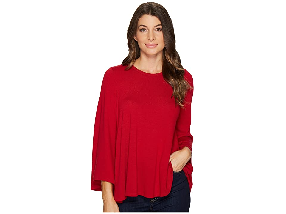 Karen Kane Bell Sleeve Swing Sweter (Red) Women