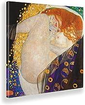 Giallobus - Schilderijen - Gustav Klimt - Danae - Canvasdoek - 100x100 - Klaar om op te hangen - Moderne schilderijen voor...