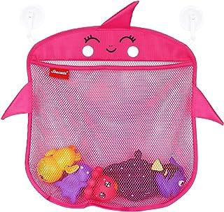 2X Bath Toy Organizer Baby Toy Holder | Mesh Bathtub Storage Bag Shower Tub Container For Toddlers | Net Bathroom Caddy Wi...
