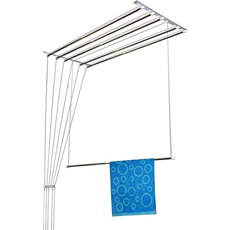 Rainbow Drywell Luxury 6 Pipes 5 Feet Stainless Steel Cloth Dryer/Clothes Hanger