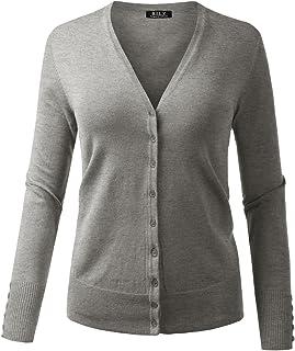 BH B.I.L.Y USA Women s V-Neck Button Down Long Sleeve Soft Classic Knit  Cardigan 594399225