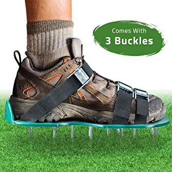 Universal Fits Heavy Duty Spike Sandals Shoes for Aerating Lawn Yard Grass