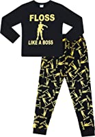 The Pyjama Factory Floss Like a Boss All Over Gaming Black Gold Cotton Long Pyjamas