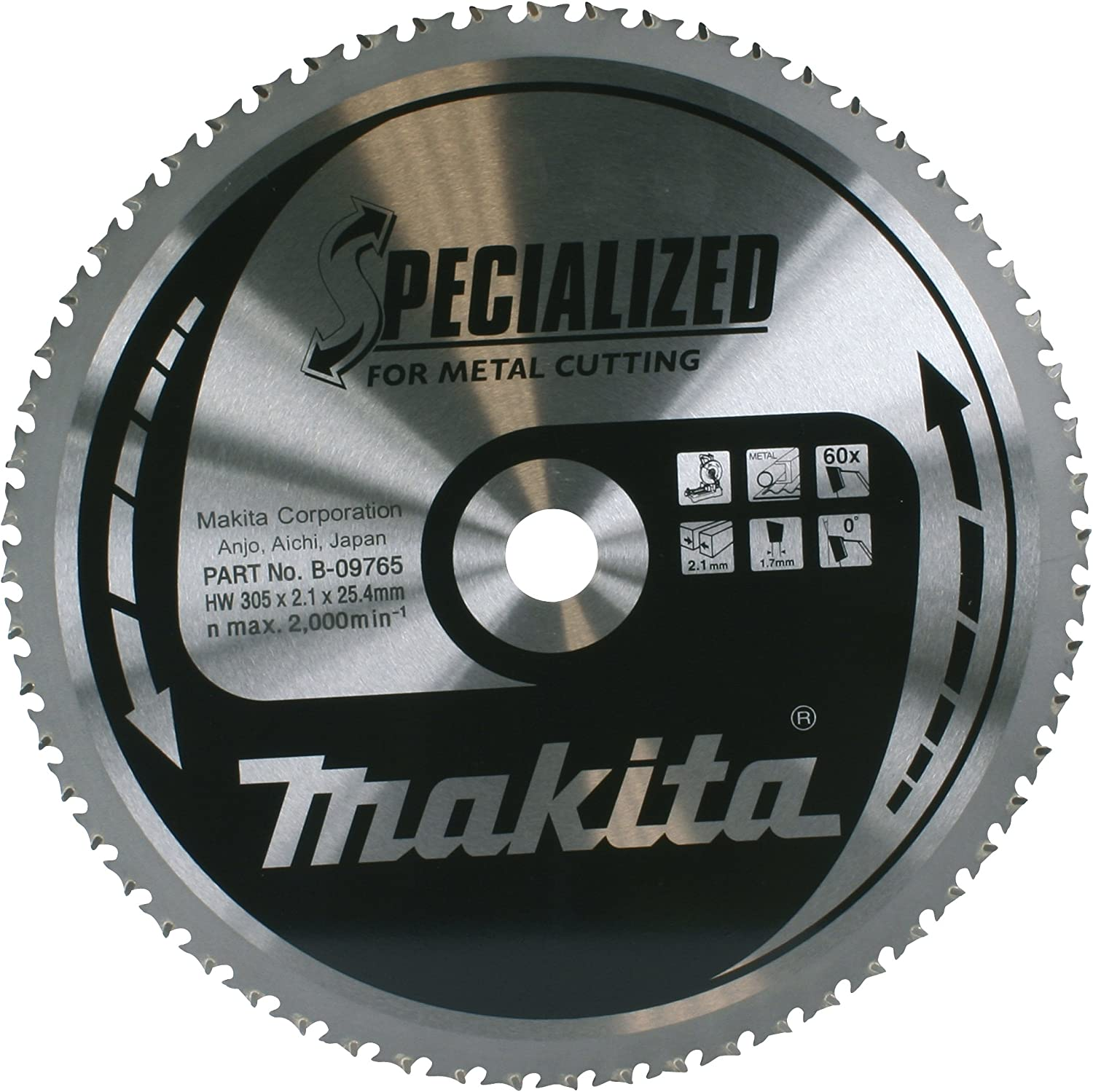 Deluxe Makita 305 Manufacturer direct delivery x 25.4mm Circular Saw Blade 60-Tooth