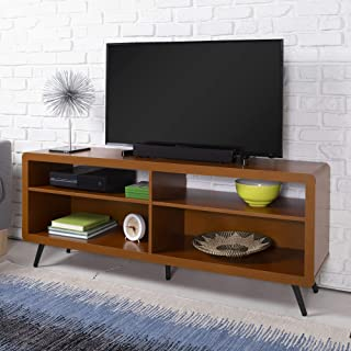 WE Furniture Mid Century Wood TV Stand for TV's up to 64