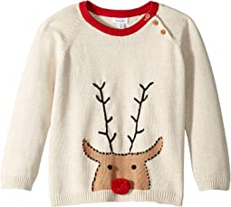 Reindeer Long Sleeve Christmas Sweater (Infant/Toddler)