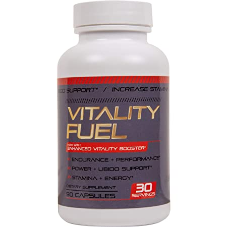 Vitality Supplement for Men and Women - [2,195mg Maximum Strength] - Maca Root, Muira Puama, Ginseng, Saw Palmetto, Tribulus, L-Arginine - Made USA - Rejuvenation Support - 90 Count