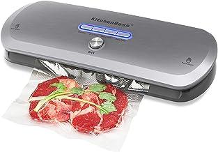 KitchenBoss Machine Sous Vide Alimentaire,Appareil de Mise sous Vide,Système de vide automatique sec/humide,pour Conservat...