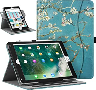 Fintie Case for iPad 9.7 2018/2017, iPad Air 1/2, Portrait and Landscape Viewing Multi-Angle Stand Cover w/Pocket, Pencil Holder, Auto Sleep/Wake for iPad 6th / 5th Gen, iPad Air 1/2, Blossom