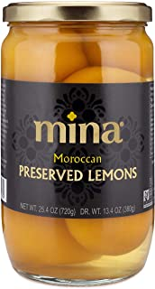 Mina Preserved Lemons, Gourmet Salted Lemons Preserved Naturally for an Exotic Twist of Authentic Moroccan Flavor (25.4 Ounces)