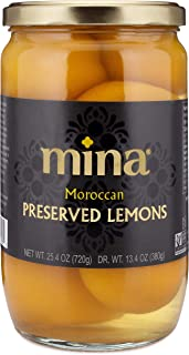 Mina Preserved Lemons, Authentic Moroccan Preserved Beldi Lemons, 25.4 oz (720 grams), All Natural, No Preservatives