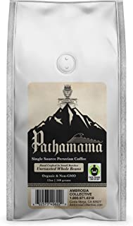 Ambrosia Pachamama - Single Source Coffee   Whole Unroasted Beans   Organic   Non-GMO   Fair Trade   Shade Grown   Imported from One Farm in Peru