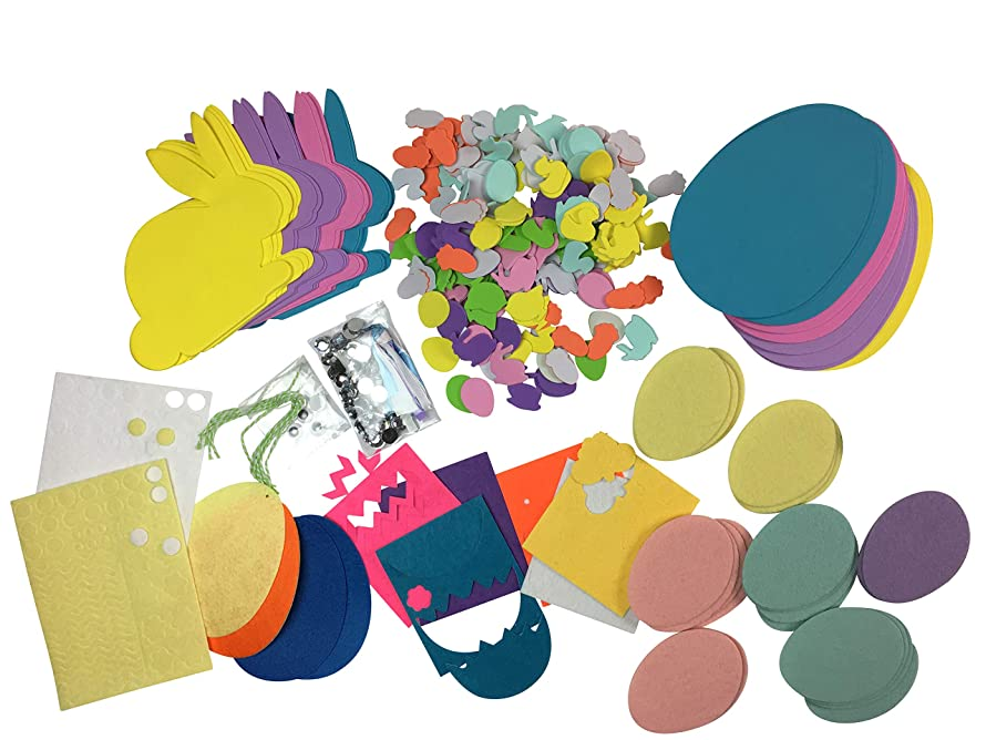 550 Piece Easter Craft and Scrapbook Embellishment Set