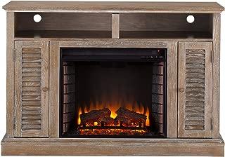 Furniture HotSpot – Farmhouse Electric Fireplace TV Stand – Burnt Oak - 48