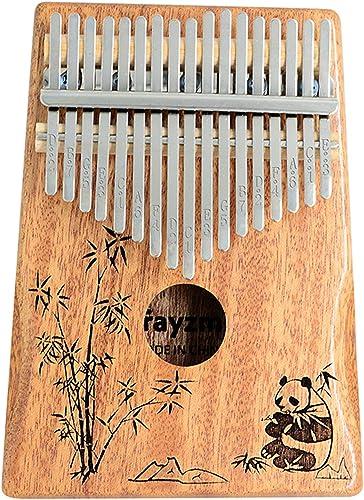 Rayzm Kalimba/Mbira Africana en C (Do). Piano Arpa de mano con Accesorios. Marimba de 17 Teclas, Instrumento de Bolsi...