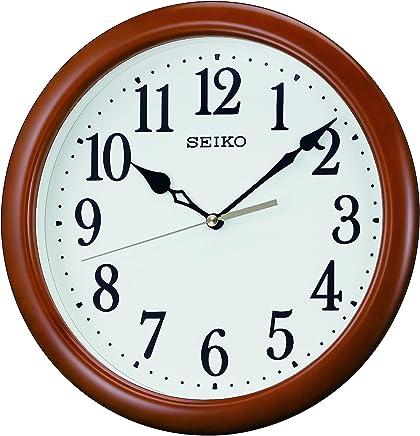 セイコー クロック 掛け時計 アナログ 木枠 茶 木地 KX620B SEIKO