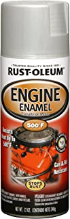 Rust-Oleum 248953 Automotive Rust Preventive Engine Enamel Spray Paint, 12 Oz Aerosol Can, Aluminum, 11 oz, Cast Coat