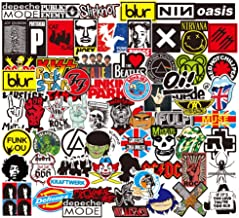 Rock and Roll Sticker 100Pcs,Sanmatic Sticker Bomb Pack for Guitar Drum Headphones Laptop Music Sticker (Rock and Roll Sticker)