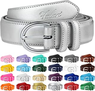 a4facd6c8 Falari Women Genuine Leather Belt Fashion Dress Belt With Single Prong  Buckle 6028-24 Colors