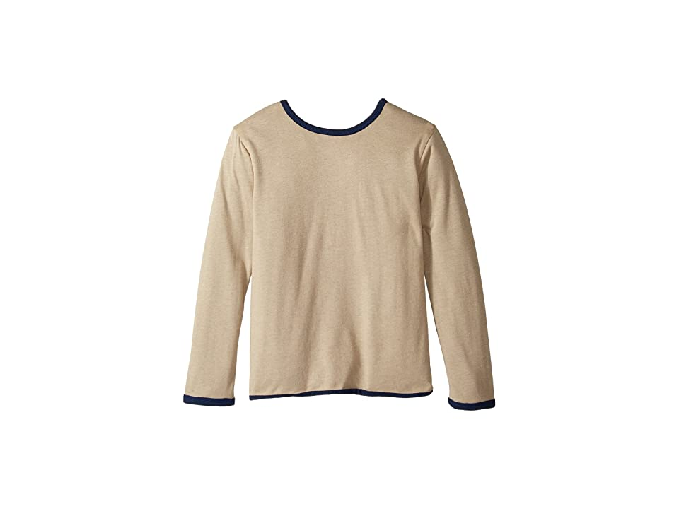 Image of 4Ward Clothing Four-Way Reversible Long Sleeve Jersey Top (Little Kids/Big Kids) (Navy/Oatmeal) Boy's Clothing