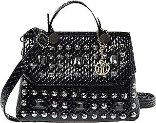 حقيبة بتصميم الاحزمة للنساء من انوي - اسود