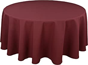 Riegel Permalux Cottonblend 90-Inch Round Tablecloth, New Burgundy