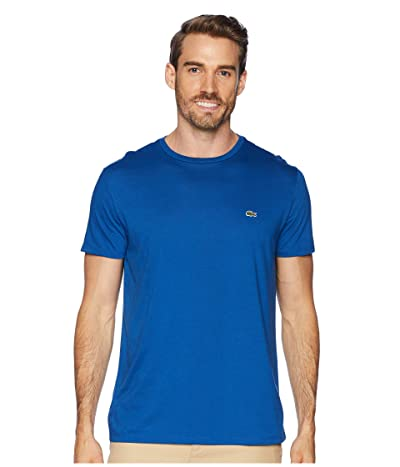 Lacoste Short Sleeve Pima Crew Neck T-Shirt (Electric) Men