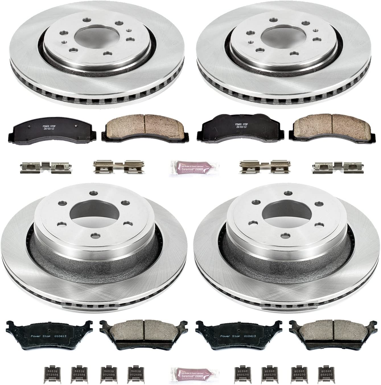 Power Stop CRK6268 front and rear Z17 Evolution Geomet Coated Brake Kit