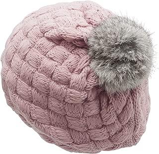 Baby Girls Infatnt Knit Crochet Rib Pom Pom Beanie Hat