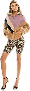 Women's Knee Length Stretch High Waist Leopard Print Active Bike Yoga Short Leggings
