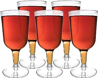 48 Piezas Copas de Vino de Plástico, Transparente 180 ml -