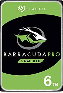 Seagate BarraCuda Pro 6TB Internal Hard Drive Performance HDD – 3.5 Inch SATA 6 Gb/s 7200 RPM 256MB Cache for Computer Desktop PC Laptop, Data Recovery – Frustration Free Packaging (ST6000DM004)