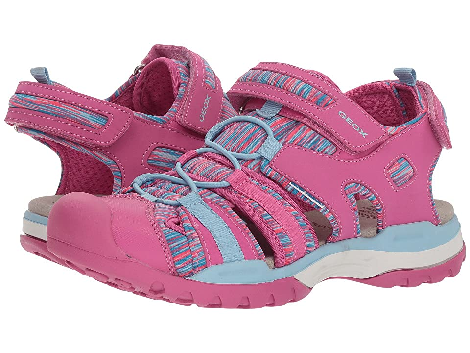 Geox Kids Borealis 8 (Big Kid) (Fuchsia/Sky) Girl