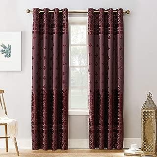 Sun Zero Elidah Medallion Bonded Velvet 100% Blackout Grommet Curtain Panel, 50
