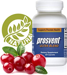 PROSVENT ULTRA BLEND-NATURAL PROSTATE HEALTH SUPPLEMENT - Reduce Urgency & Frequency. Improve Flow, Sleep, Health & Quality Of Life. Antioxidant. OVER 180 MILLION DOSES SOLD! -1 Month Supply