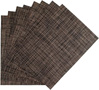 Set of 8 Nickel Benson Mills PM Longport Woven Vinyl Placemat