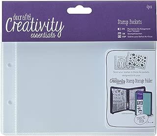 DOCrafts Creativity Essentials A6 Stamp Pockets 6/Pkg-, Clear