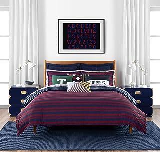 Tommy Hilfiger Heritage Stripe Comforter Set, Full/Queen, Red/Blue