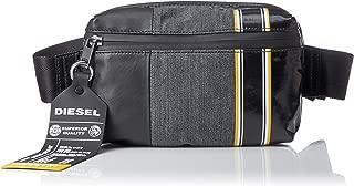 Diesel Men's D-Tolle BELTBAG-Belt Bag, grey denim/black, UNI