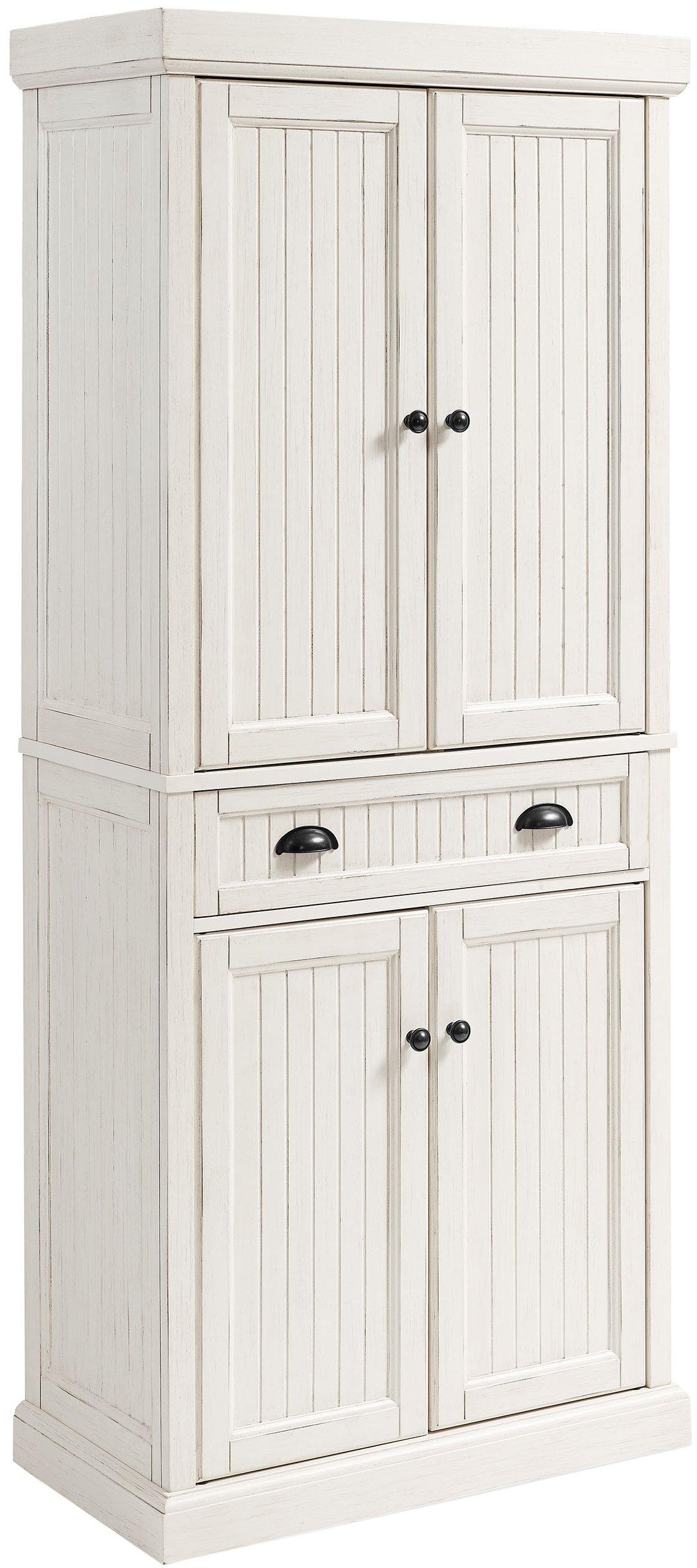 Crosley Furniture Seaside Kitchen Pantry Cabinet - Distressed White