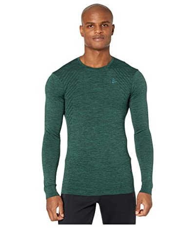 Craft Fuseknit Comfort Round Neck Long Sleeve (Pine Melange) Men