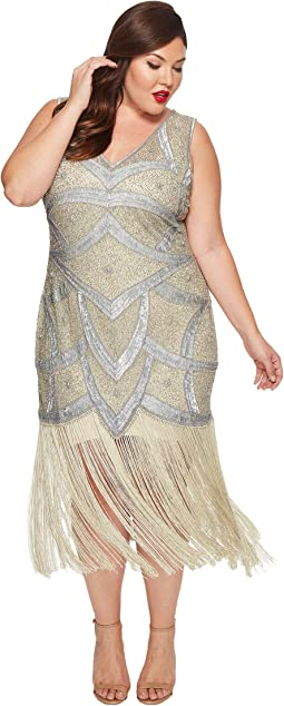 Unique Vintage - Plus Size Isadora Flapper Dress