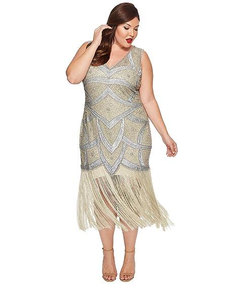 3569300557c1 Unique Vintage Plus Size Isadora Flapper Dress at 6pm