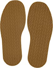 KANEIJI Shoe Replacement Rubber tire Grain Full Sole, chooes Different Colors,4mm Thickness, one Pair (Natual)