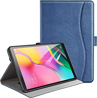 ZtotopCase for Samsung Galaxy Tab A 10.1 Inch 2019(SM-T510/T515), PU Leather Folding Stand Folio Cover with Pen Holder, Card Pocket and Multiple Viewing Angles,Navy Blue